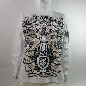 Rocawear 100% Cotton Design Long Sleeve Shirt XL